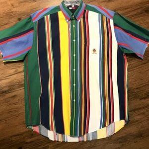 TOMMY HILFIGER Striped Button Down Shirt - Vintage